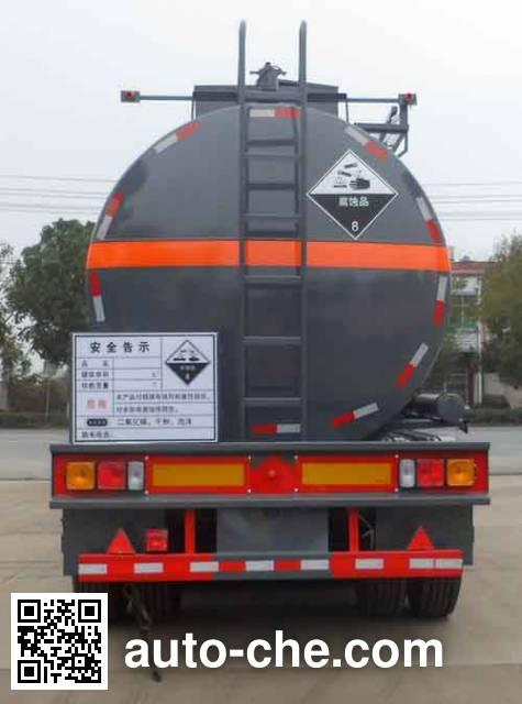Zhongqi Liwei HLW9405GFW corrosive materials transport tank trailer