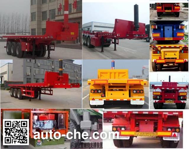 Lurun HLX9400ZZXP flatbed dump trailer