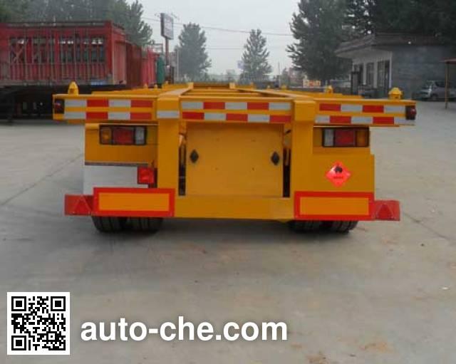 Hongruitong HRT9400TWY dangerous goods tank container skeletal trailer
