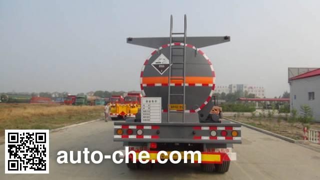 弘瑞通牌HRT9401GFW腐蚀性物品罐式运输半挂车