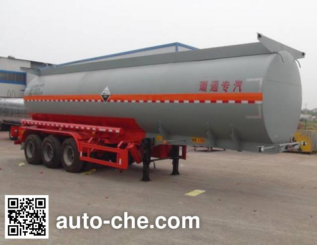 弘瑞通牌HRT9402GFW腐蚀性物品罐式运输半挂车
