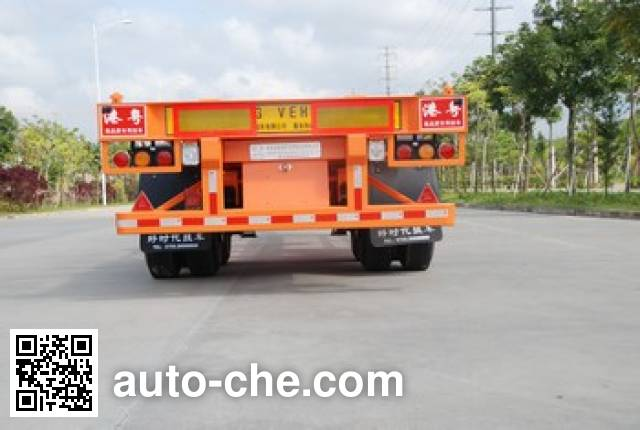 Gangyue HSD9350TJZG container transport trailer