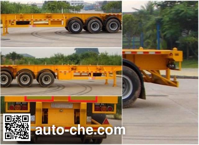 Gangyue HSD9380TJZG container transport trailer