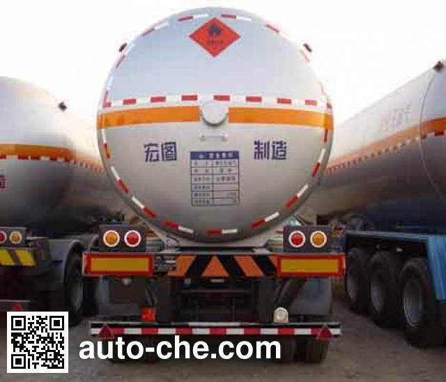 宏图牌HT9330GTR永久气体运输半挂车