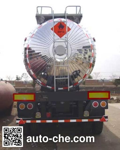 宏图牌HT9400GRY易燃液体罐式运输半挂车