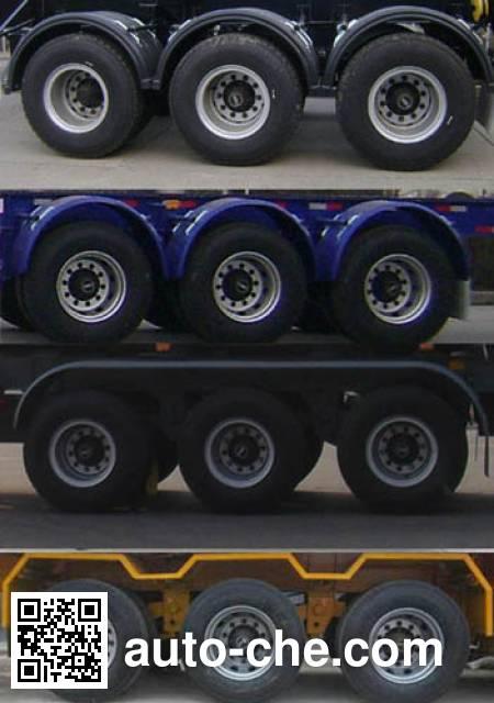 宏图牌HT9404TWY危险品罐箱骨架运输半挂车