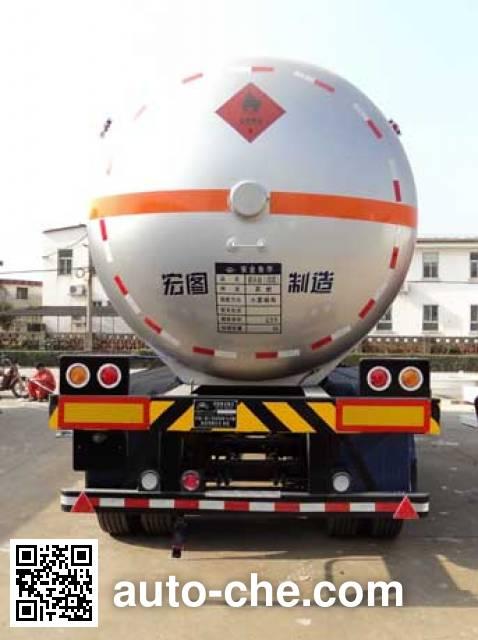 宏图牌HT9403GRY易燃液体罐式运输半挂车