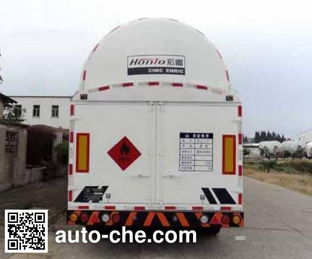 宏图牌HT9406GDYA低温液体运输半挂车