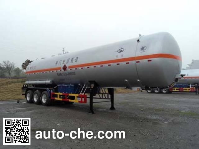 宏图牌HT9408GYQ6F液化气体运输半挂车