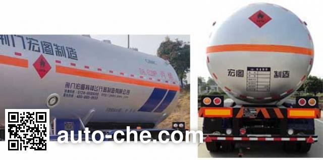 宏图牌HT9409GYQB2液化气体运输半挂车