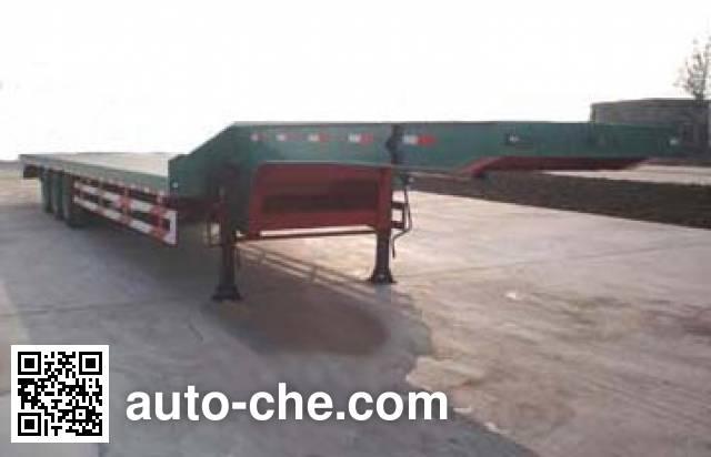 鸿天牛牌HTN9300TDP低平板半挂车