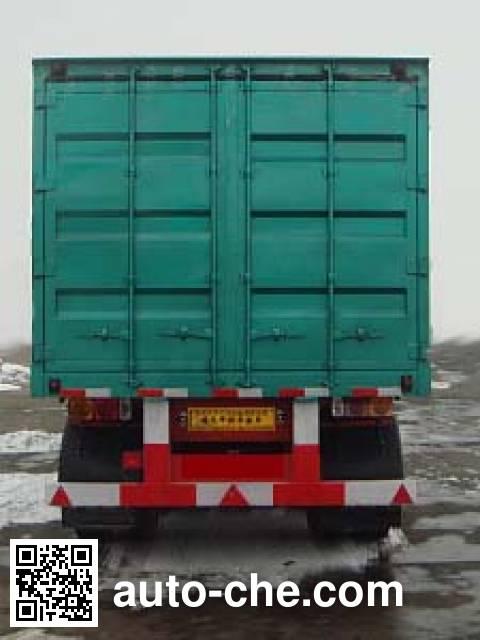 鸿天牛牌HTN9320XXY厢式运输半挂车