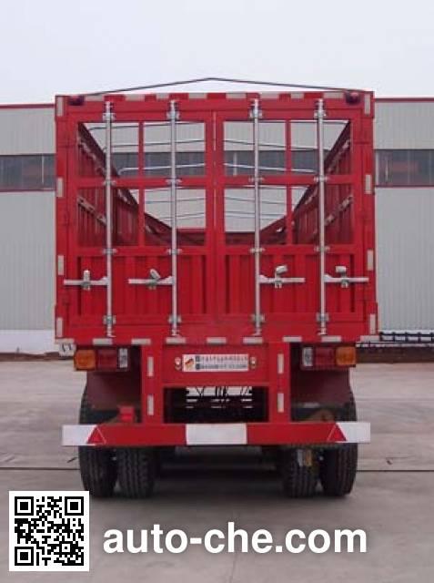 鸿天牛牌HTN9382CLXY仓栅式运输半挂车