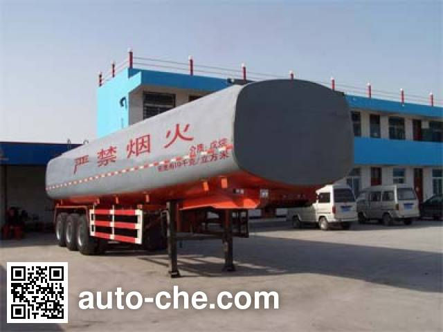 Hongtianniu HTN9402GHY chemical liquid tank trailer