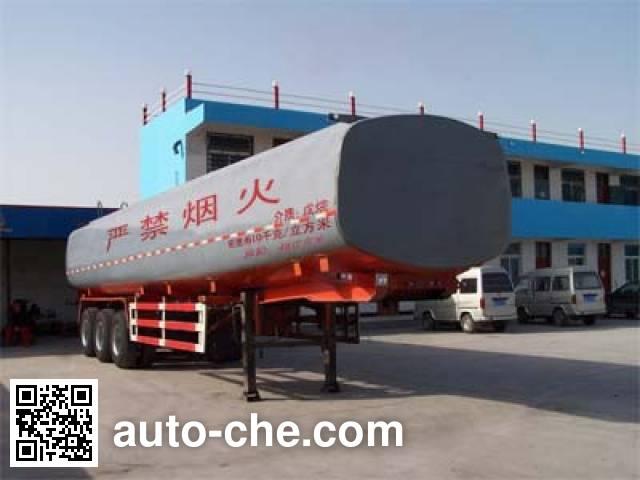 鸿天牛牌HTN9402GHY化工液体运输半挂车
