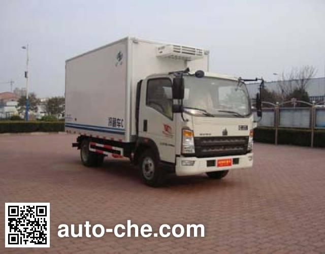 Hongyu (Henan) HYJ5040XLCB1 refrigerated truck