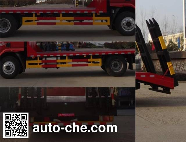 Hongyu (Hubei) HYS5160TPBL4 flatbed truck
