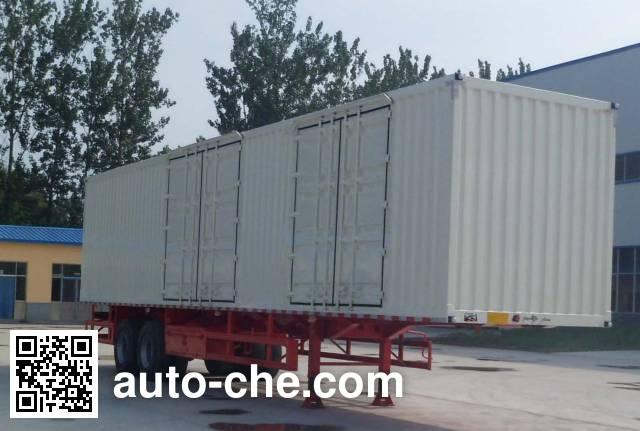 华鲁业兴牌HYX9350XXY厢式运输半挂车