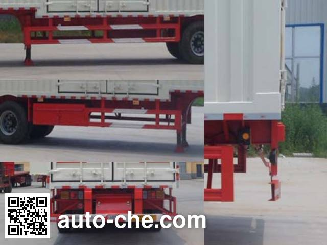 Hualu Yexing HYX9400XXY box body van trailer