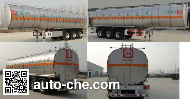 Hualu Yexing HYX9401GYS liquid food transport tank trailer