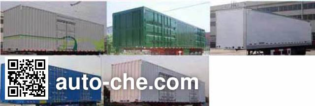 Hualu Yexing HYX9403XXY box body van trailer