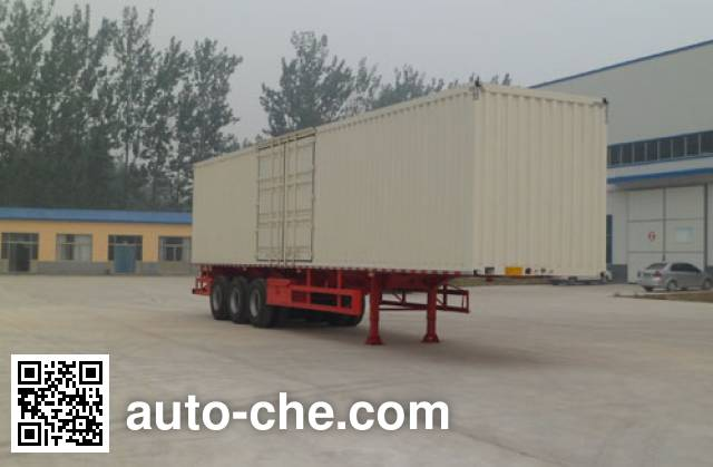 Hualu Yexing HYX9403XXY box body van trailer