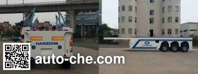 Hasheng Huazhou HZT9400TYC timber/pipe transport trailer