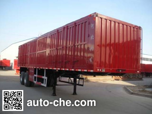 可利尔牌HZY9351XXY厢式运输半挂车