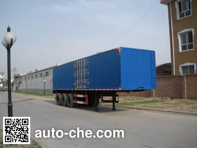 Kelier HZY9383XXY box body van trailer