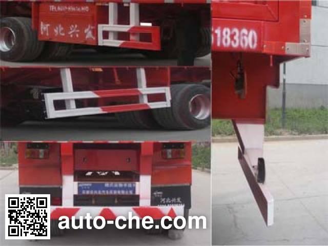 Kelier HZY9409XXY box body van trailer
