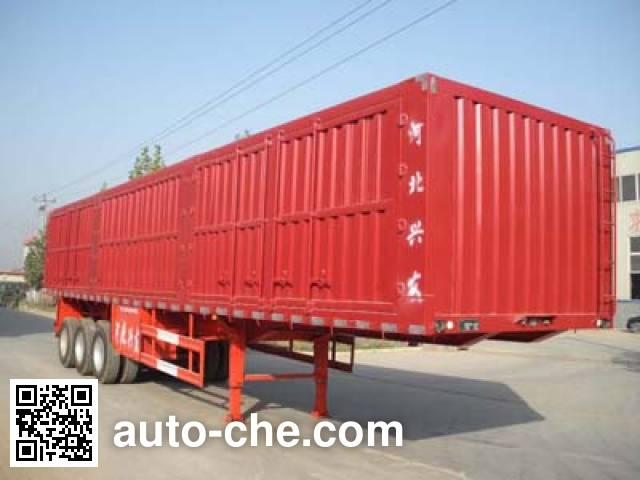 Kelier HZY9384XXY box body van trailer