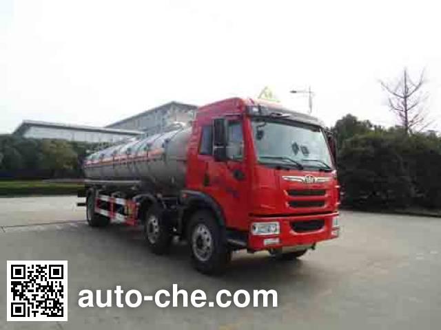 Hongzhou HZZ5250GFW corrosive substance transport tank truck