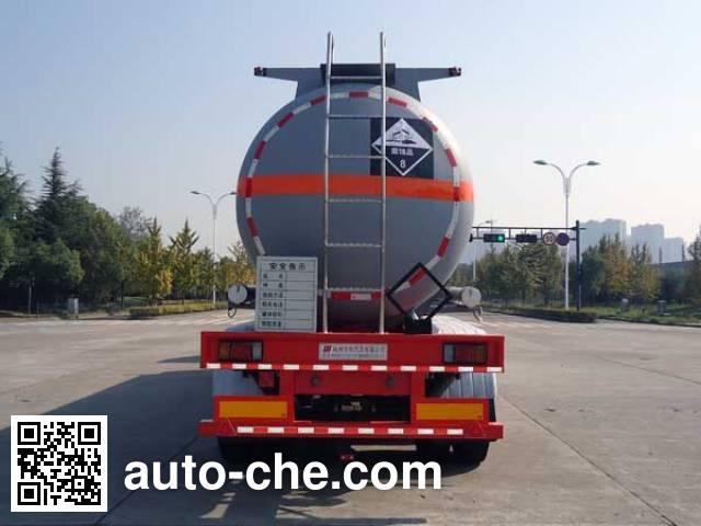 宏宙牌HZZ9400GFW腐蚀性物品罐式运输半挂车