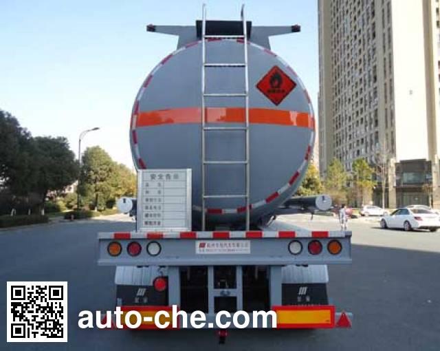 Hongzhou HZZ9404GRY flammable liquid tank trailer