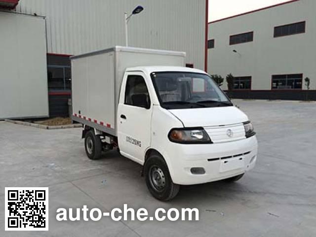 达福迪牌JAX5021XXYBEVF220LB15M2X1纯电动厢式运输车