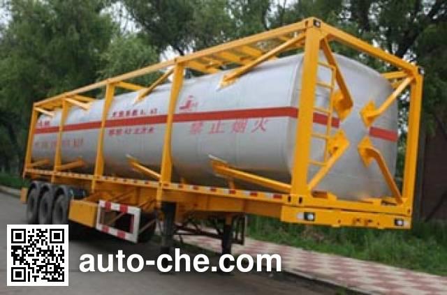 Jiancheng JC9401GHY chemical liquid transport frame tank trailer