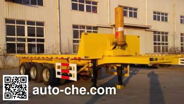 Jidong Julong JDL9400ZZXP flatbed dump trailer