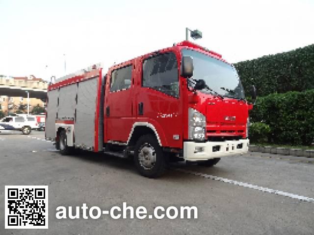 Jinshengdun JDX5100GXFSG35/B fire tank truck