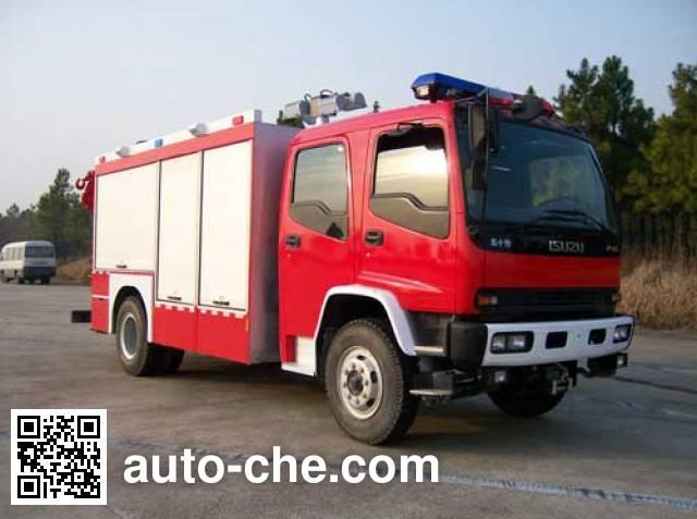 海盾牌JDX5130TXFJY98W抢险救援消防车