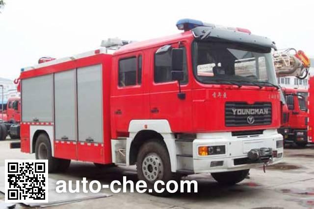 海盾牌JDX5140TXFJY96抢险救援消防车