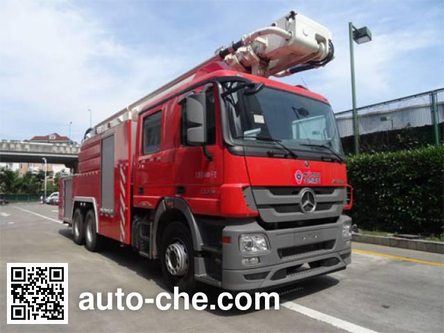 Jinshengdun JDX5310JXFJP32 high lift pump fire engine