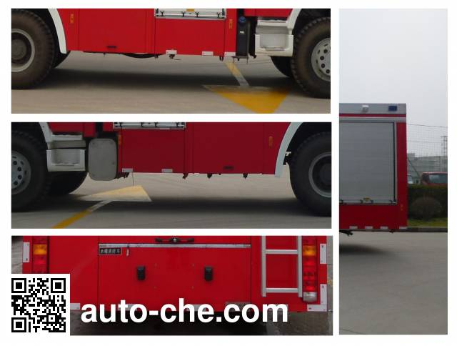 Jinshengdun JDX5330GXFSG180/H fire tank truck