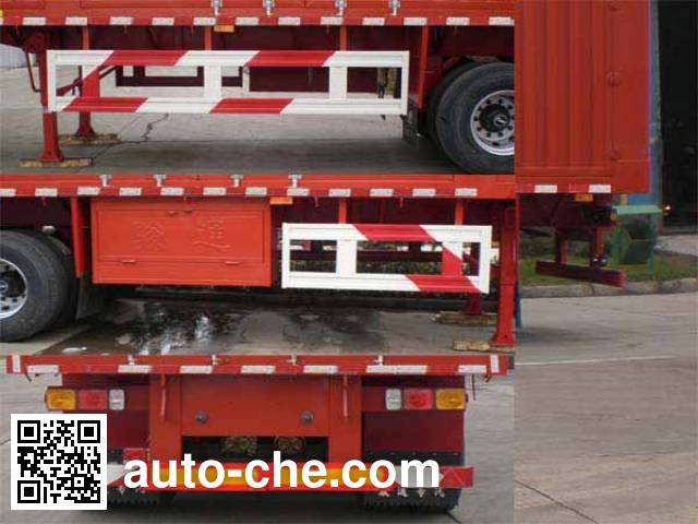 Juntong JF9402XXY box body van trailer