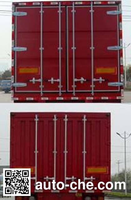Lantian JLT9321XXY box body van trailer