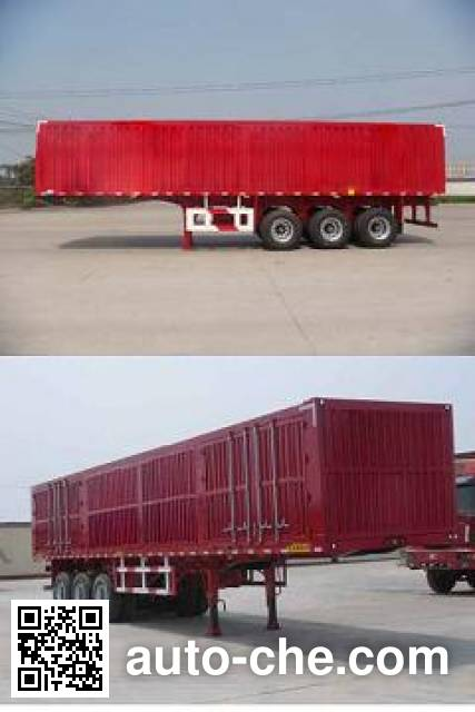 Lantian JLT9350XXY box body van trailer