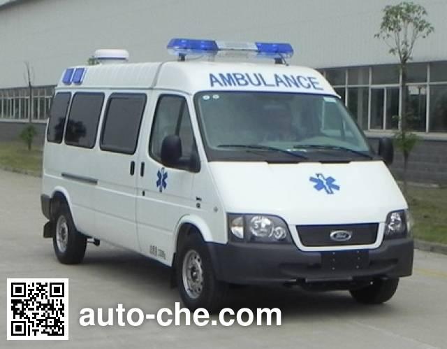 江铃全顺牌JX5034XJHZC救护车