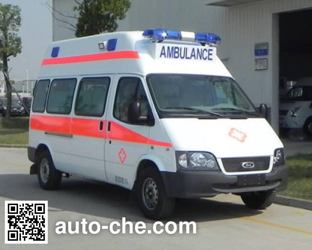 江铃全顺牌JX5034XJHZD救护车