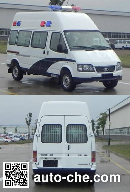 JMC Ford Transit JX5034XQCZD prisoner transport vehicle