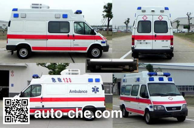 江铃全顺牌JX5044XJHMKB救护车