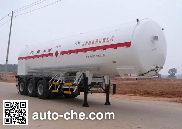 Wufeng JXY9408GDY cryogenic liquid tank semi-trailer